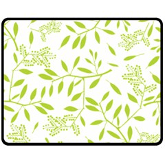 Leaves Pattern Seamless Double Sided Fleece Blanket (Medium)