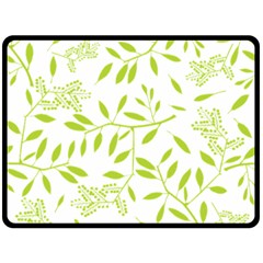 Leaves Pattern Seamless Double Sided Fleece Blanket (Large)