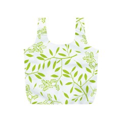 Leaves Pattern Seamless Full Print Recycle Bags (S)