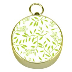 Leaves Pattern Seamless Gold Compasses