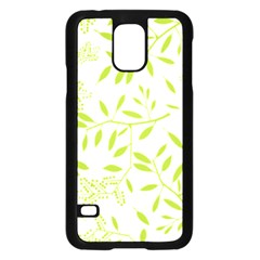 Leaves Pattern Seamless Samsung Galaxy S5 Case (Black)