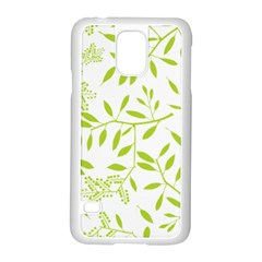 Leaves Pattern Seamless Samsung Galaxy S5 Case (White)