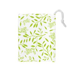 Leaves Pattern Seamless Drawstring Pouches (Medium)