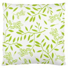 Leaves Pattern Seamless Large Flano Cushion Case (One Side)