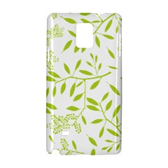 Leaves Pattern Seamless Samsung Galaxy Note 4 Hardshell Case