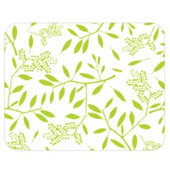 Leaves Pattern Seamless Double Sided Flano Blanket (medium)