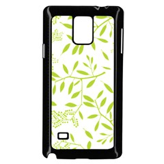 Leaves Pattern Seamless Samsung Galaxy Note 4 Case (Black)