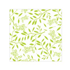 Leaves Pattern Seamless Small Satin Scarf (Square)