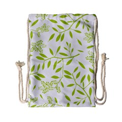 Leaves Pattern Seamless Drawstring Bag (small)