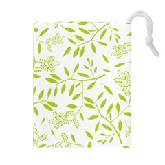 Leaves Pattern Seamless Drawstring Pouches (Extra Large)