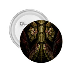 Fractal Abstract Patterns Gold 2 25  Buttons