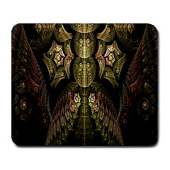 Fractal Abstract Patterns Gold Large Mousepads