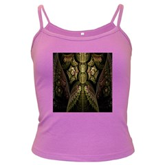 Fractal Abstract Patterns Gold Dark Spaghetti Tank