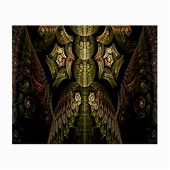 Fractal Abstract Patterns Gold Small Glasses Cloth