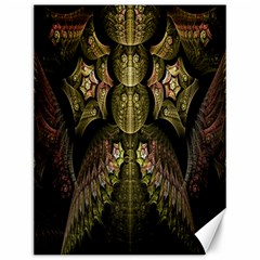 Fractal Abstract Patterns Gold Canvas 12  X 16