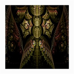 Fractal Abstract Patterns Gold Medium Glasses Cloth (2 Side)