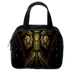 Fractal Abstract Patterns Gold Classic Handbags (one Side)