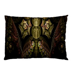 Fractal Abstract Patterns Gold Pillow Case