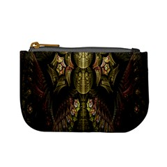 Fractal Abstract Patterns Gold Mini Coin Purses