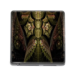 Fractal Abstract Patterns Gold Memory Card Reader (Square)