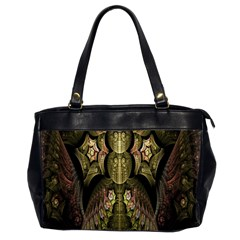 Fractal Abstract Patterns Gold Office Handbags (2 Sides)