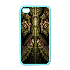 Fractal Abstract Patterns Gold Apple iPhone 4 Case (Color)
