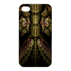 Fractal Abstract Patterns Gold Apple iPhone 4/4S Hardshell Case