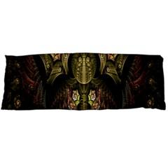 Fractal Abstract Patterns Gold Body Pillow Case (Dakimakura)