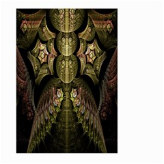 Fractal Abstract Patterns Gold Large Garden Flag (Two Sides)
