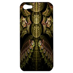 Fractal Abstract Patterns Gold Apple iPhone 5 Hardshell Case