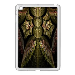 Fractal Abstract Patterns Gold Apple iPad Mini Case (White)