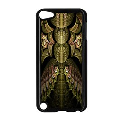 Fractal Abstract Patterns Gold Apple Ipod Touch 5 Case (black)