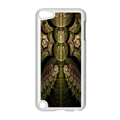 Fractal Abstract Patterns Gold Apple iPod Touch 5 Case (White)