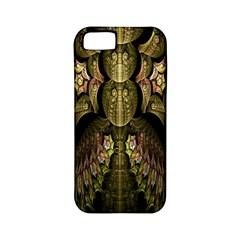 Fractal Abstract Patterns Gold Apple Iphone 5 Classic Hardshell Case (pc+silicone)