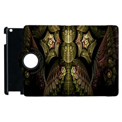 Fractal Abstract Patterns Gold Apple iPad 3/4 Flip 360 Case