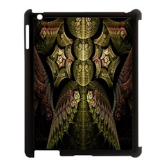 Fractal Abstract Patterns Gold Apple iPad 3/4 Case (Black)