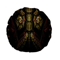 Fractal Abstract Patterns Gold Standard 15  Premium Round Cushions
