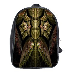 Fractal Abstract Patterns Gold School Bags (XL)