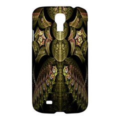 Fractal Abstract Patterns Gold Samsung Galaxy S4 I9500/I9505 Hardshell Case