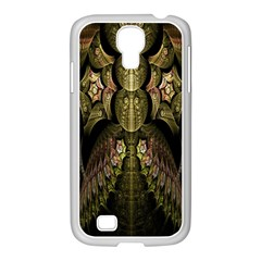 Fractal Abstract Patterns Gold Samsung GALAXY S4 I9500/ I9505 Case (White)