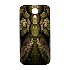 Fractal Abstract Patterns Gold Samsung Galaxy S4 I9500/I9505  Hardshell Back Case