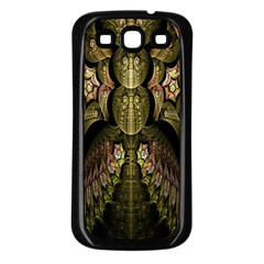 Fractal Abstract Patterns Gold Samsung Galaxy S3 Back Case (Black)