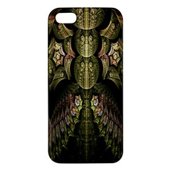 Fractal Abstract Patterns Gold iPhone 5S/ SE Premium Hardshell Case