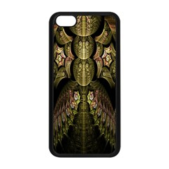 Fractal Abstract Patterns Gold Apple iPhone 5C Seamless Case (Black)