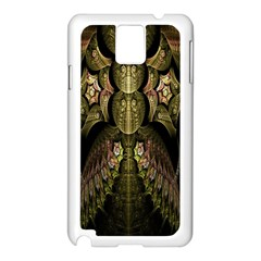 Fractal Abstract Patterns Gold Samsung Galaxy Note 3 N9005 Case (White)
