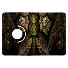 Fractal Abstract Patterns Gold Kindle Fire HDX Flip 360 Case