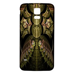 Fractal Abstract Patterns Gold Samsung Galaxy S5 Back Case (White)