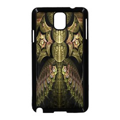 Fractal Abstract Patterns Gold Samsung Galaxy Note 3 Neo Hardshell Case (Black)