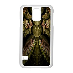 Fractal Abstract Patterns Gold Samsung Galaxy S5 Case (White)