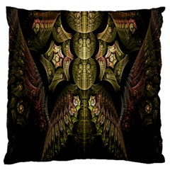 Fractal Abstract Patterns Gold Standard Flano Cushion Case (One Side)
